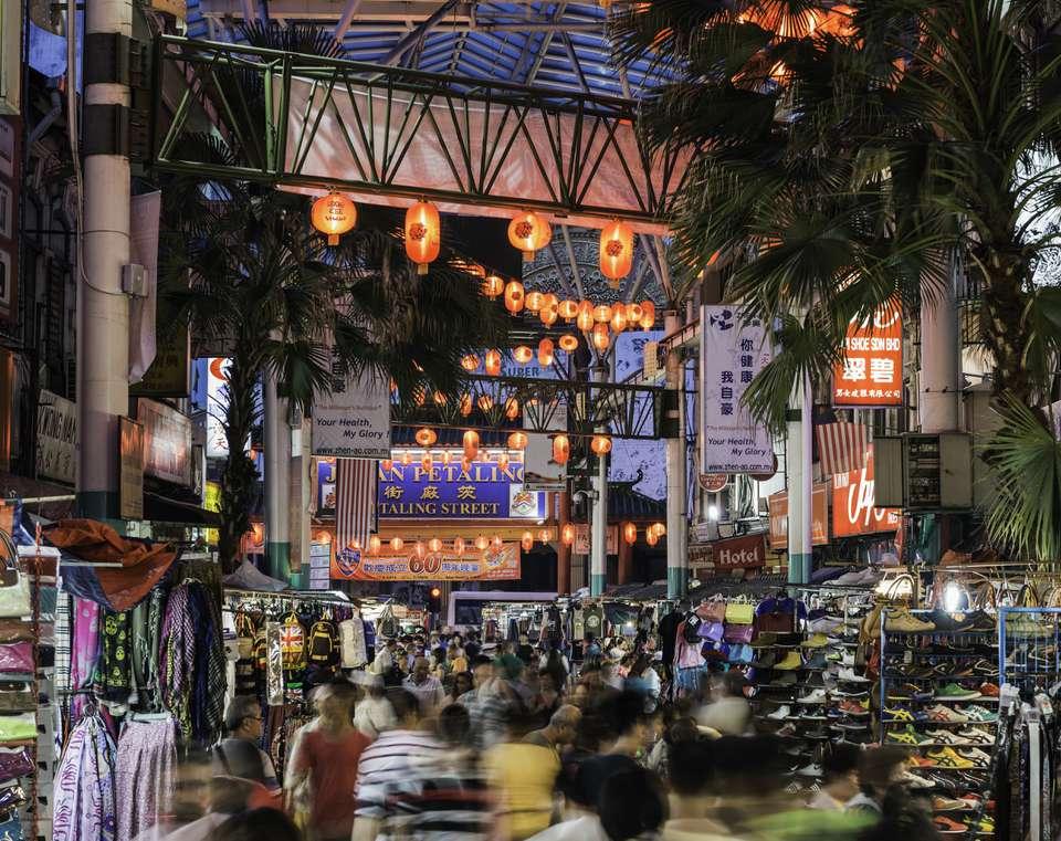 Busy Chinatown in Kuala Lumpur, Malaysia
