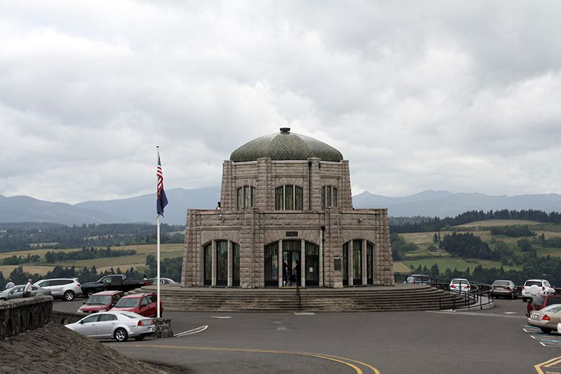 Vista House at Crown Point along the Historic Columbia River Highway