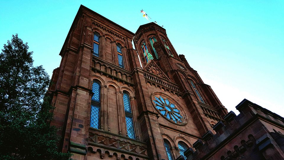 Low Angle View Of Smithsonian Institution Against Sky