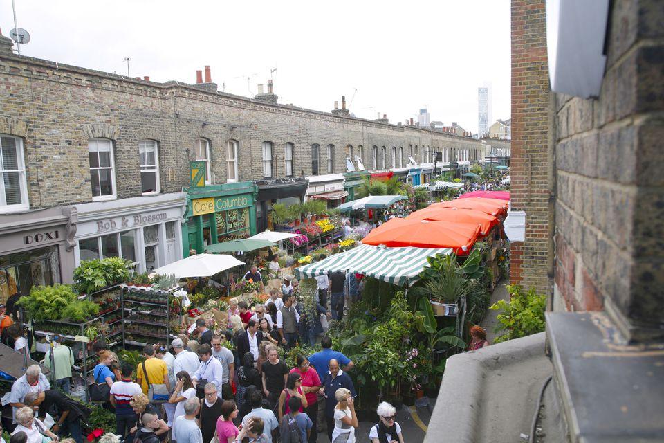 Mercado de flores de Columbia Road en Bethnal Green