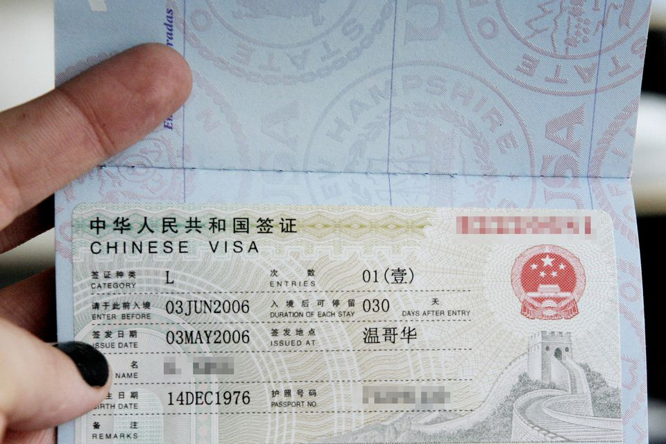 Documents Required For Travel To China