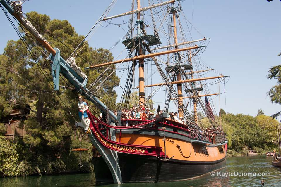 The Sailing Ship Columbia departs from Frontierland at Disneyland