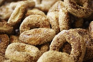 Montreal style bagels with sesame seeds