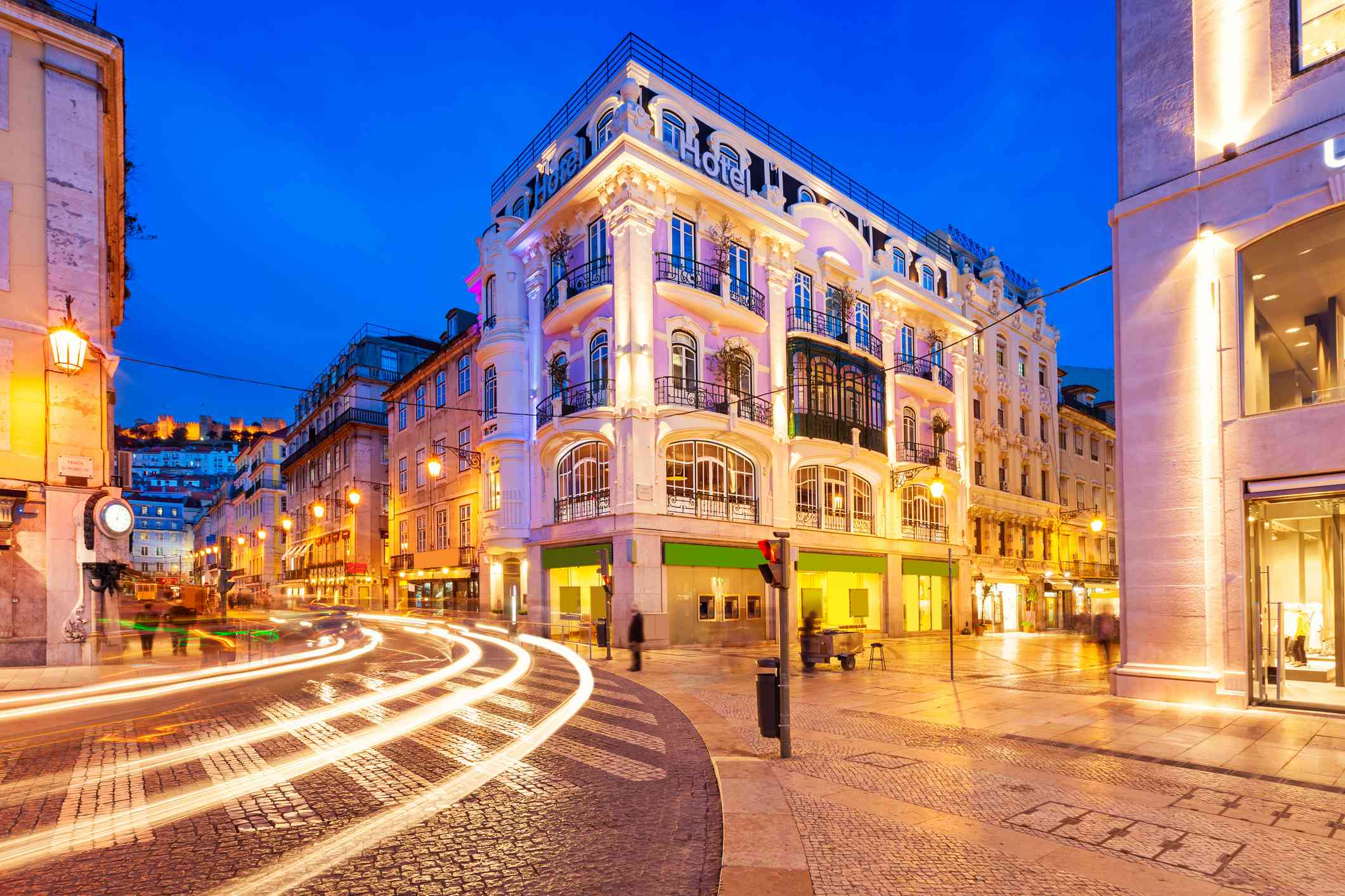Rossio Square in downtown Lisbon Portugal