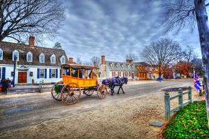 Horse-drawn carriage on the streets of Williamsburg