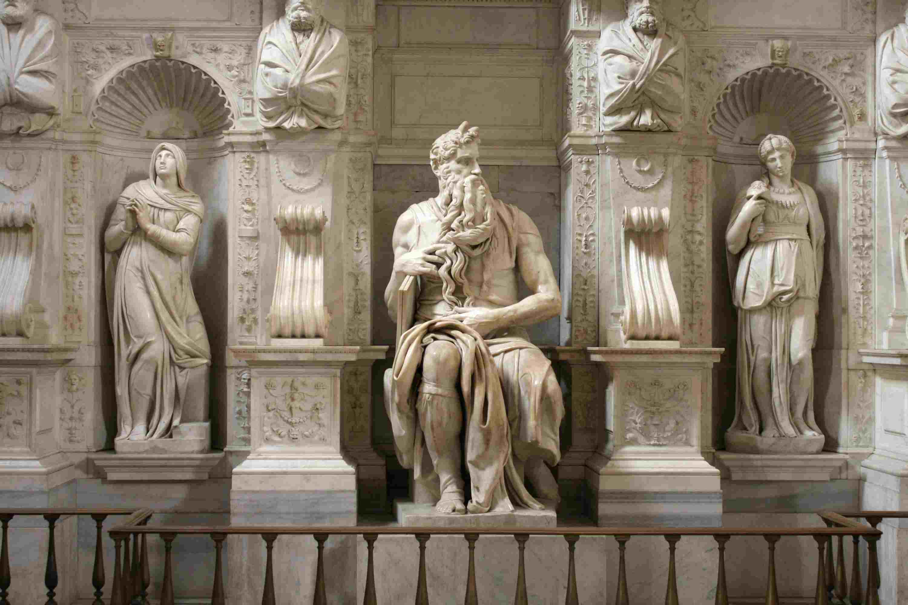 Statue of Moses by Michelangelo in Rome, Italy