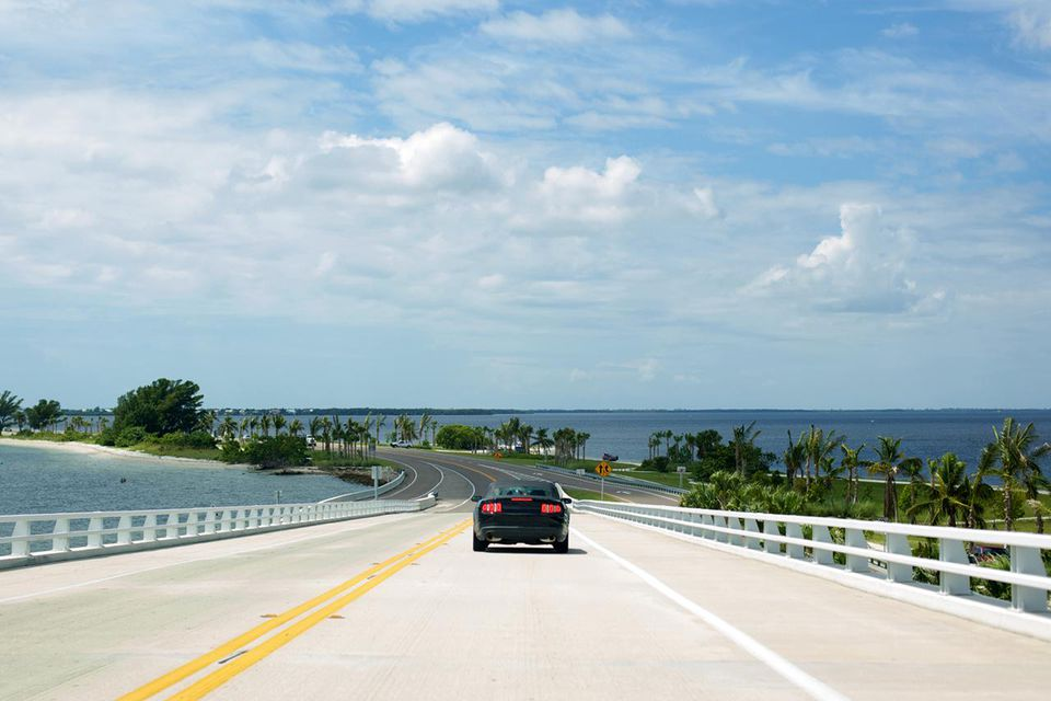 Florida coastal travel summer Sanibel Island highway