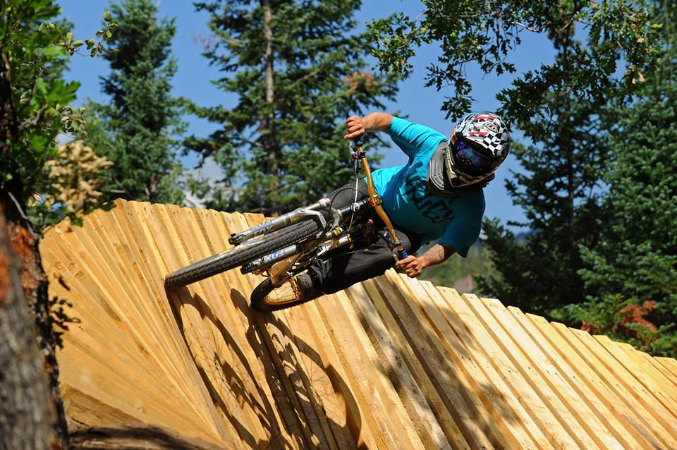 A rider at the Steamboat Bike Park
