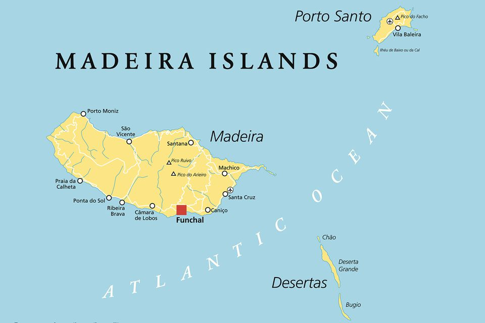 Madeira Island Location Map and Travel Guide