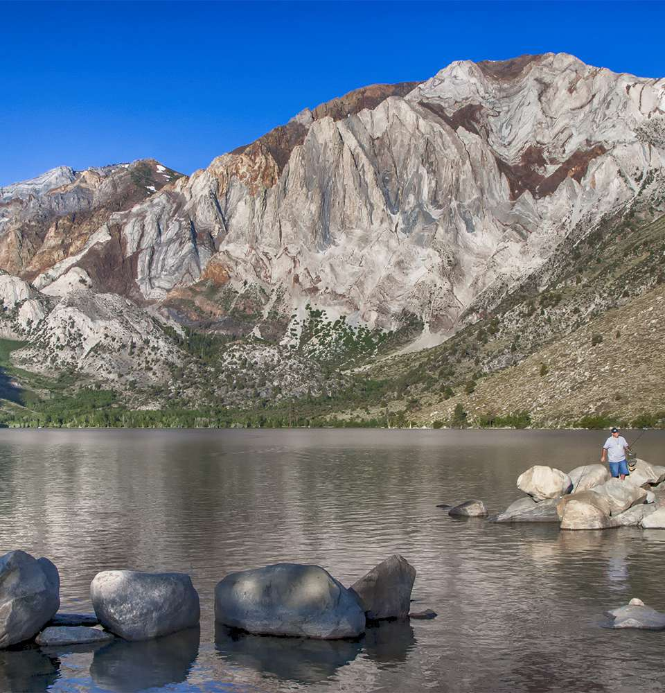 Fishermen at Convict Lake in the Morning