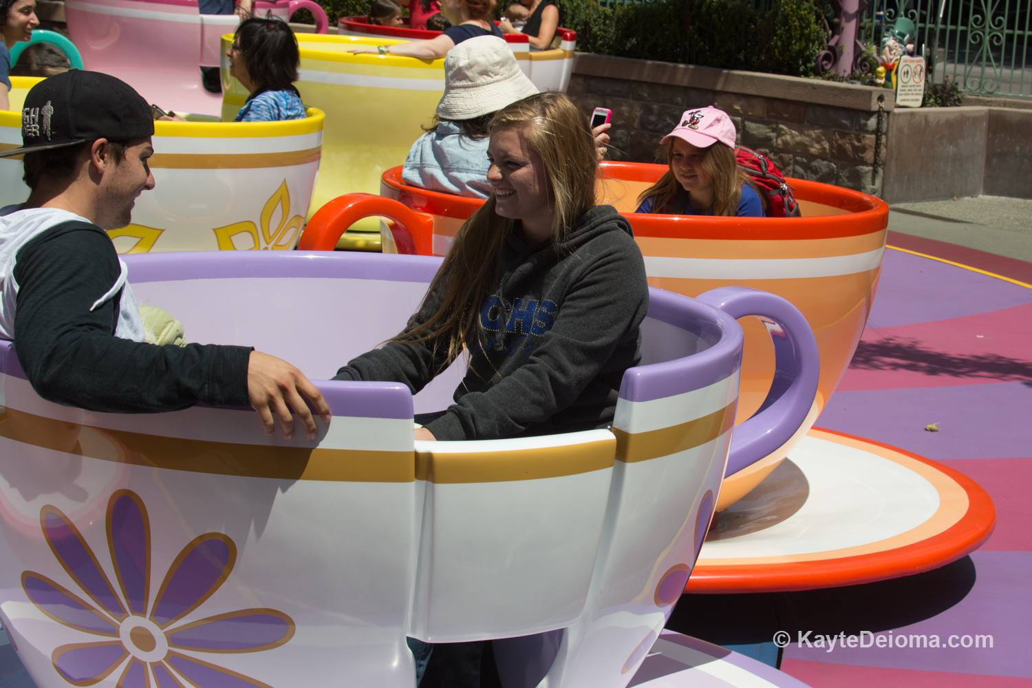 Mad Hatter's Tea Party at Disneyland, California