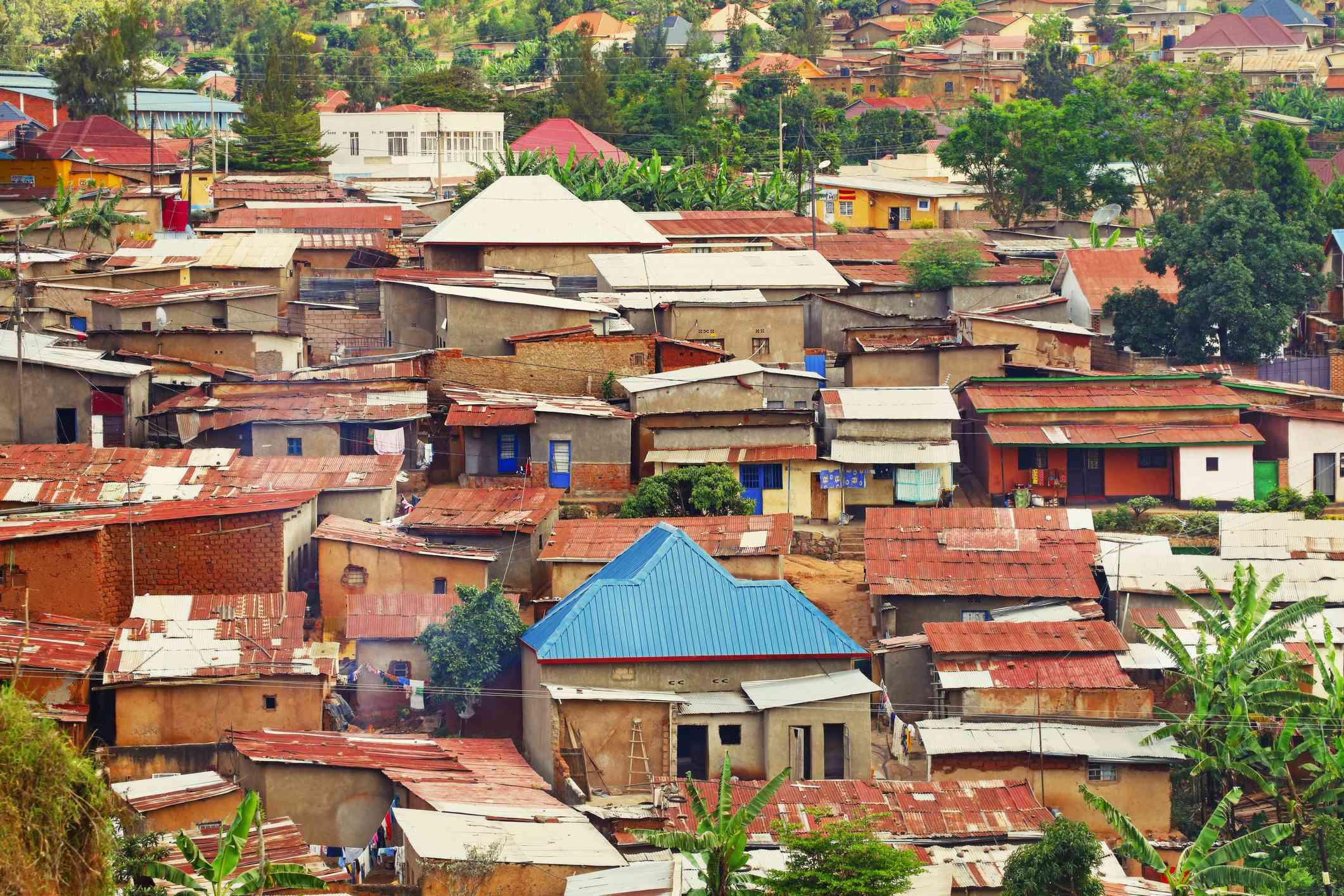 Informal settlement in Kigali, Rwanda