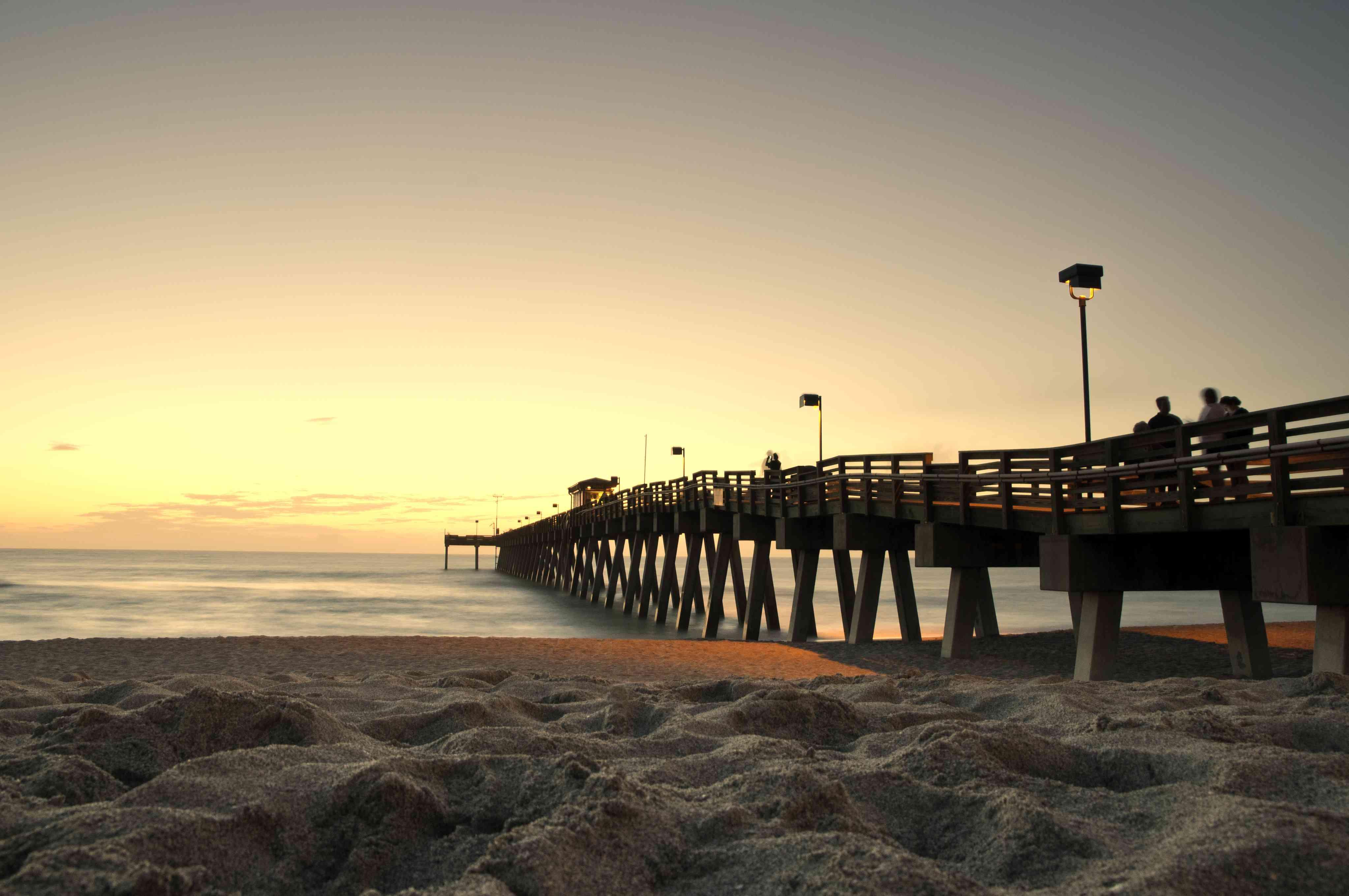 Sunset Pier On Venice Beach, FL