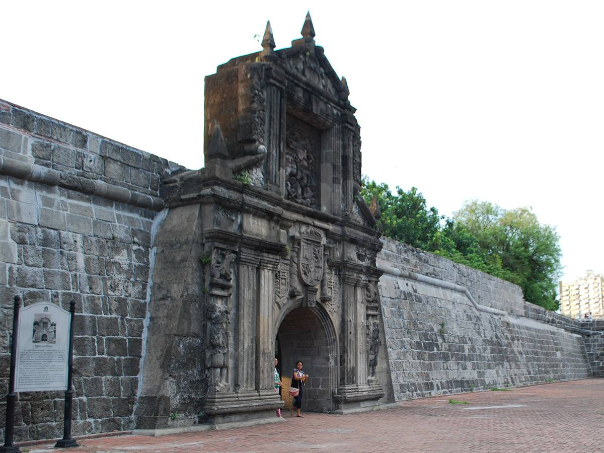 Closeup of Fort Santiago's gates, Intramuros, Manila