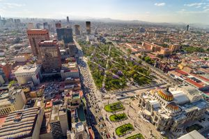 Aerial View Of Mexico City Cityscape