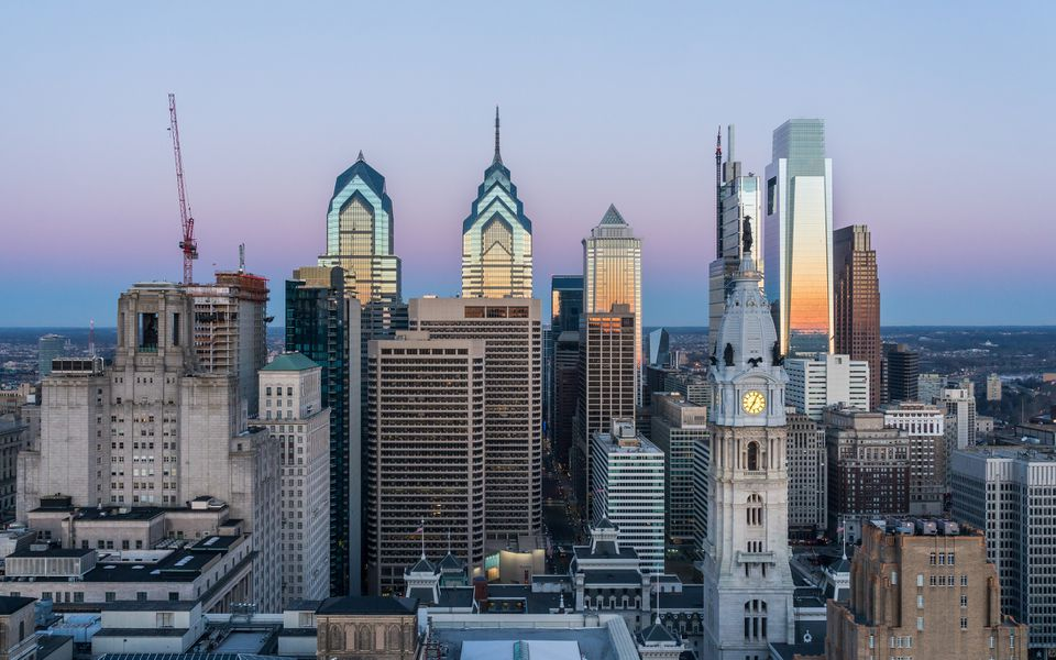Philadelphia Skyline at Sunrise