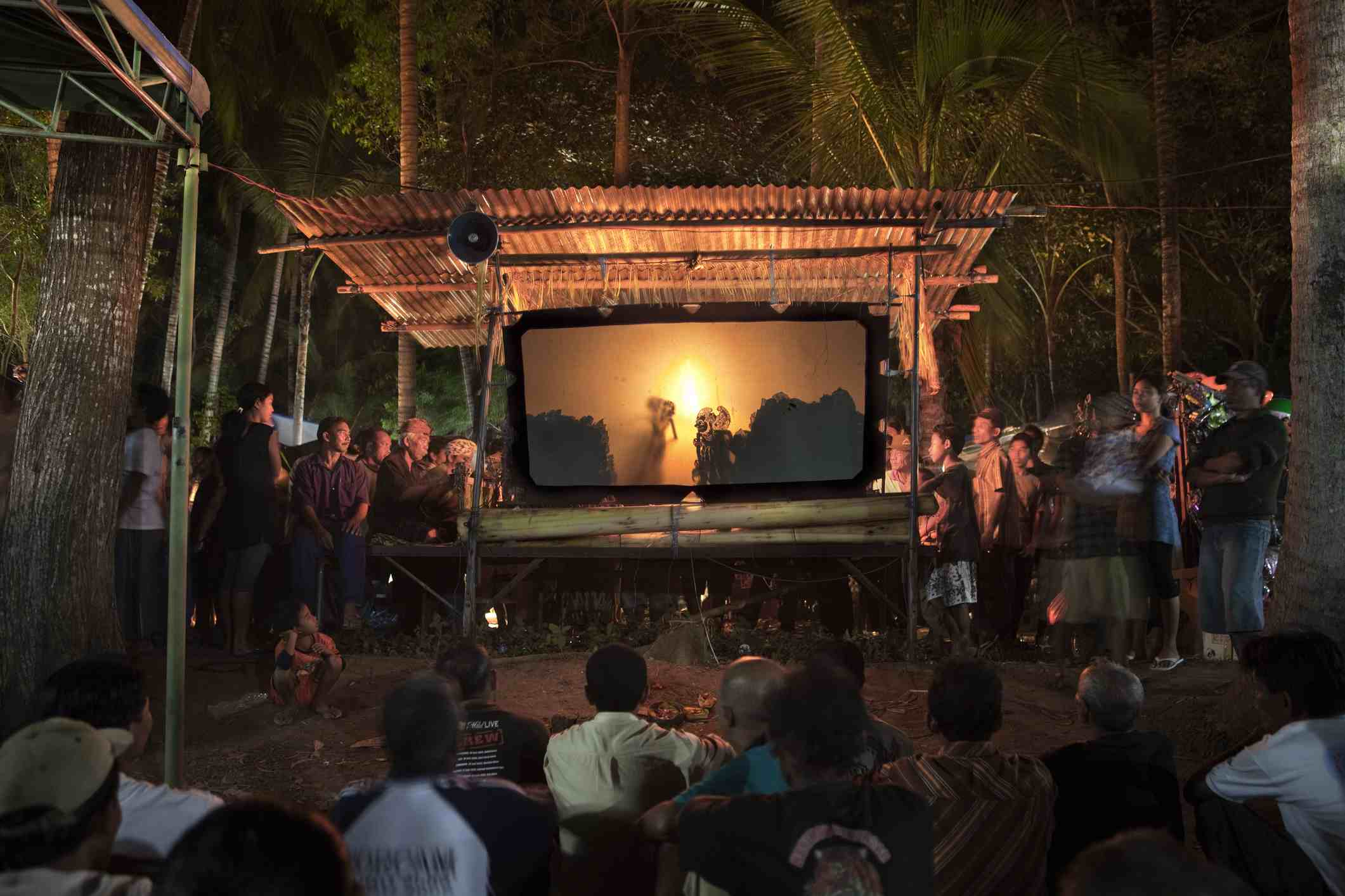 Wayang performance in Bali, Indonesia