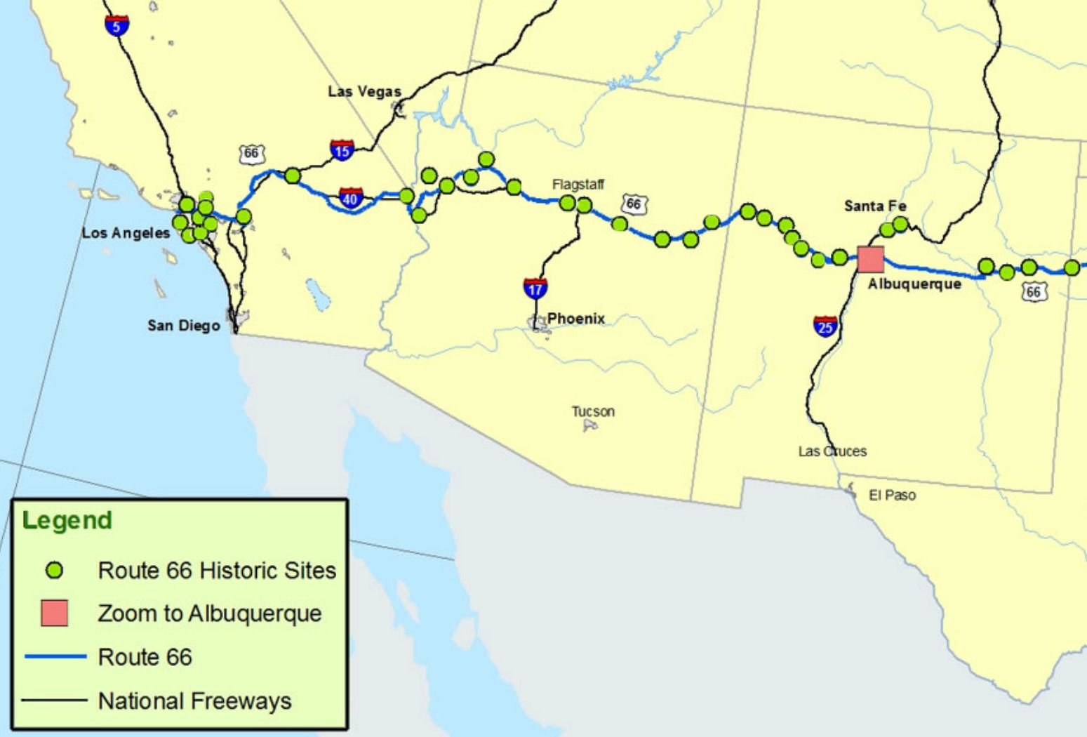 Map Of Old Route 66 Arizona.Maps Of Route 66 Plan Your Road Trip