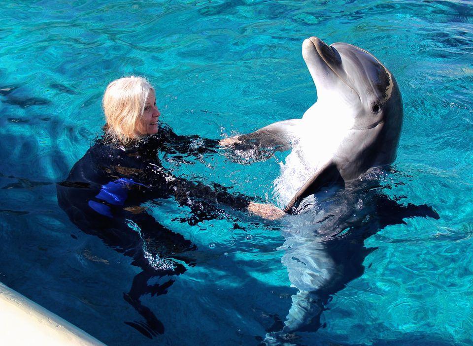 Susan Kime and Mirage Vegas Dolphin