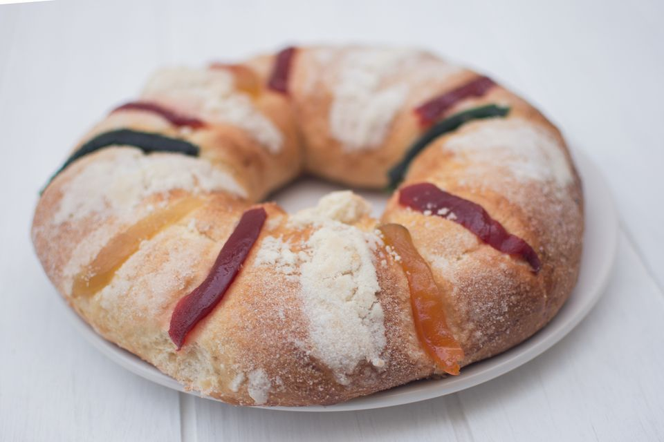 Three King cake (Rosca de reyes) from México
