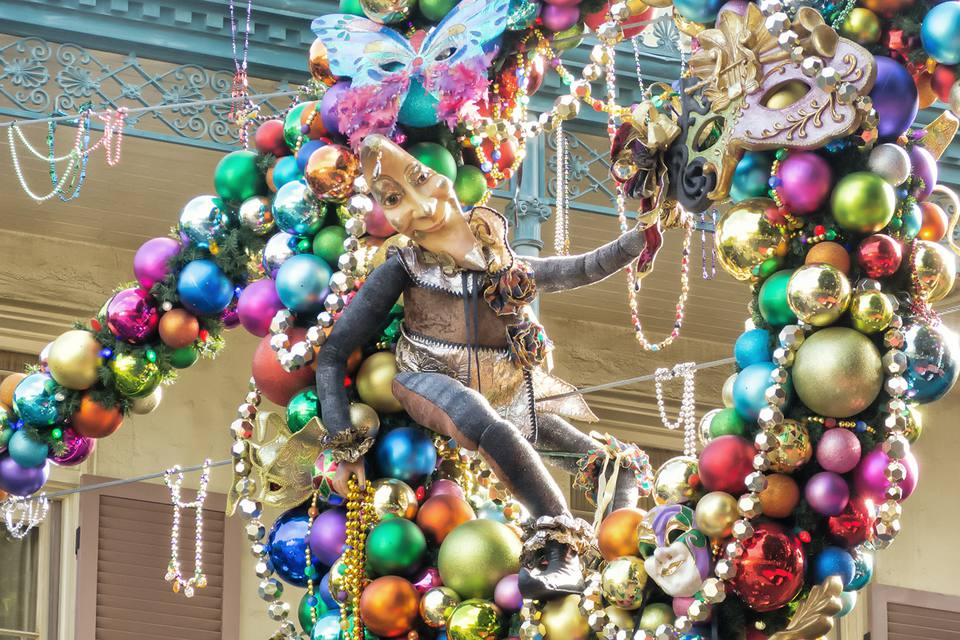 christmas decorations at new orleans square disneyland
