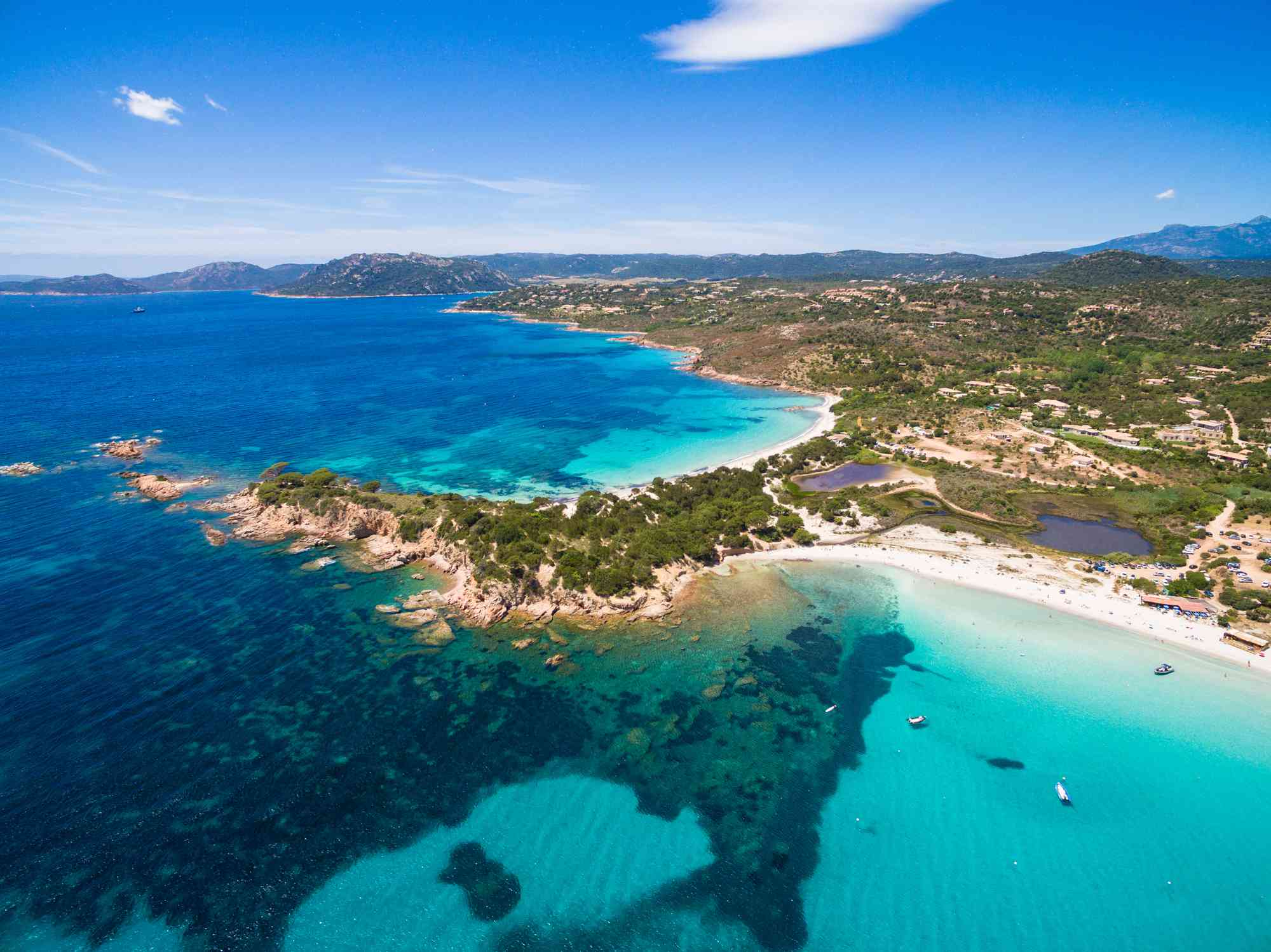 Corsica, France, aerial view