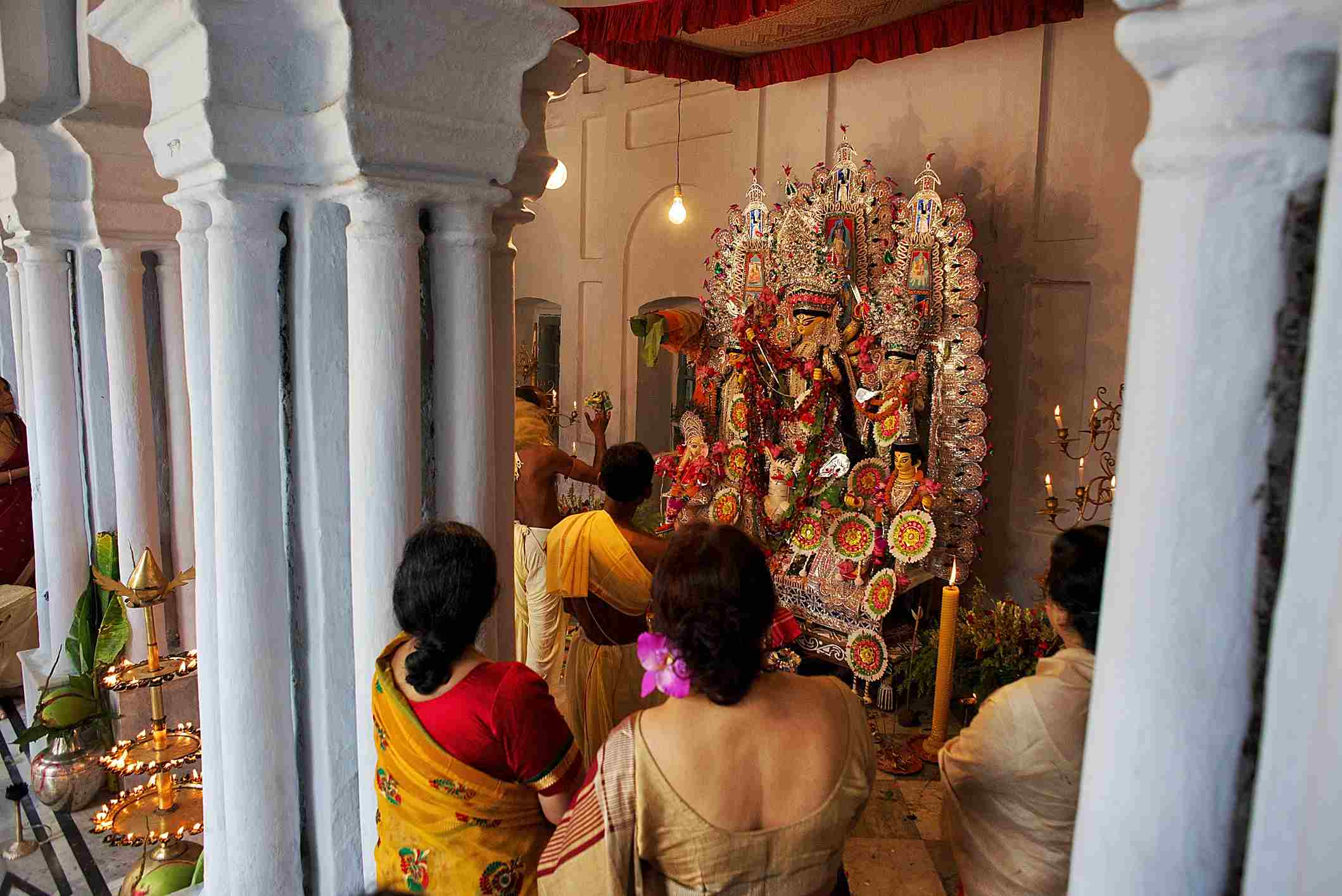Traditional Durga Puja.