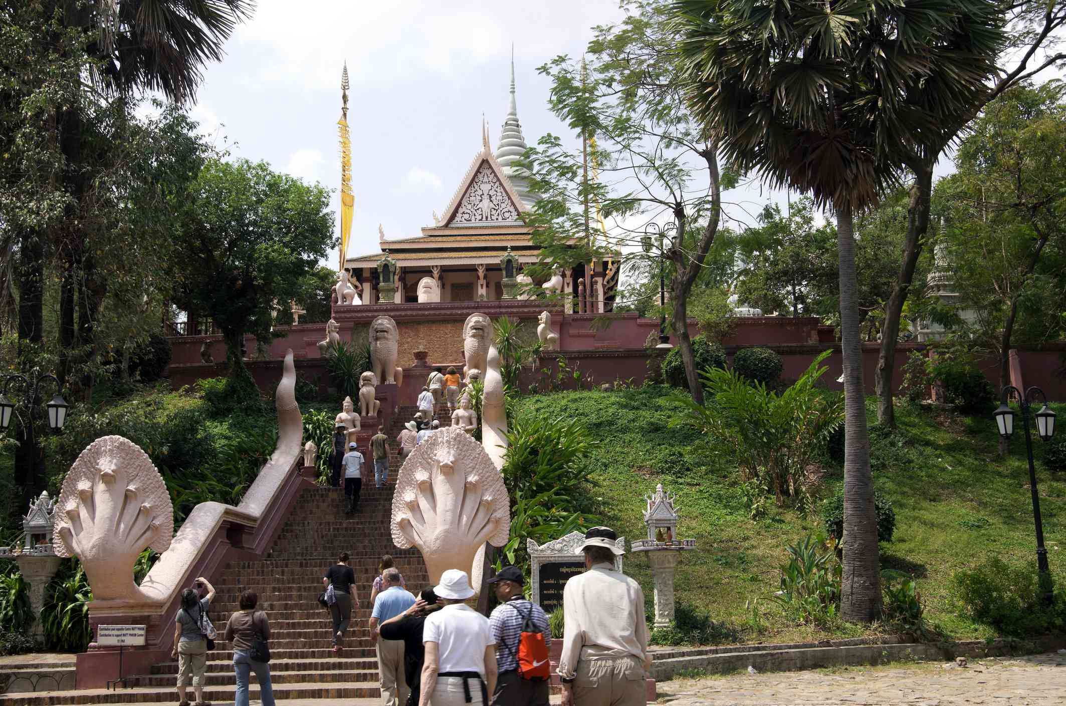 Stairway up Phnom hill