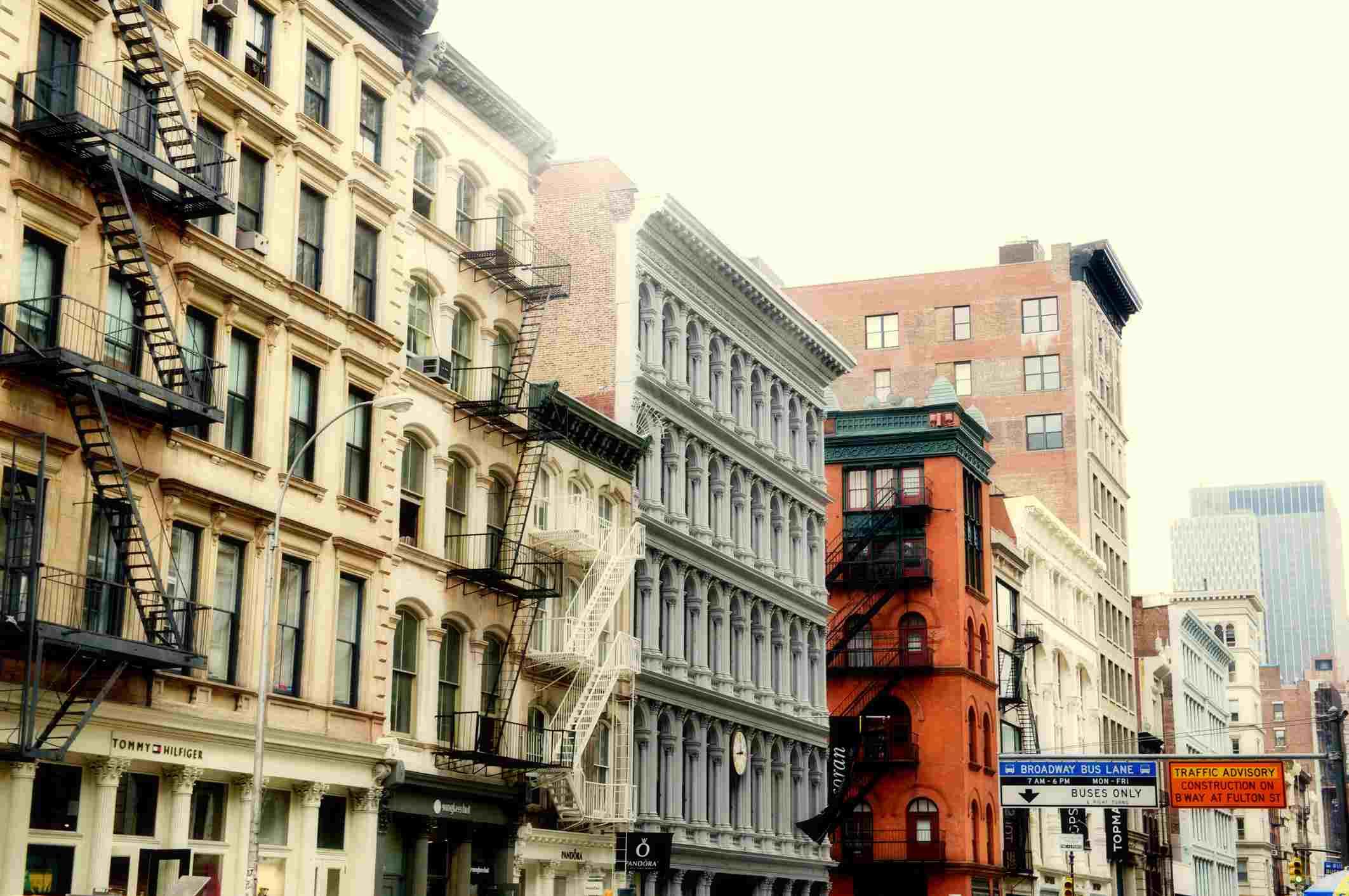 Buildings on Broadway Street in SoHo, NYC