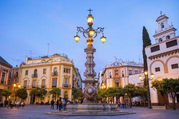 Seville, Plaza Virgen de los Reyes at Dusk