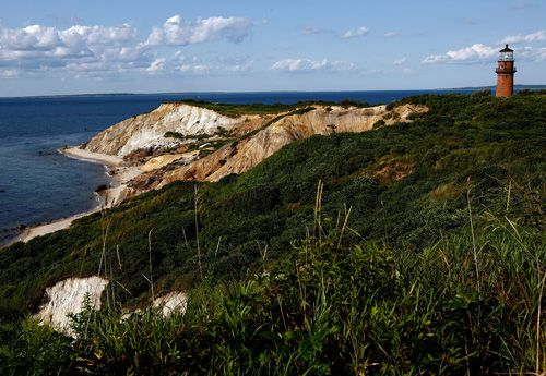 The cliffs and lighthouse at Gay Head, Martha's Vineyard