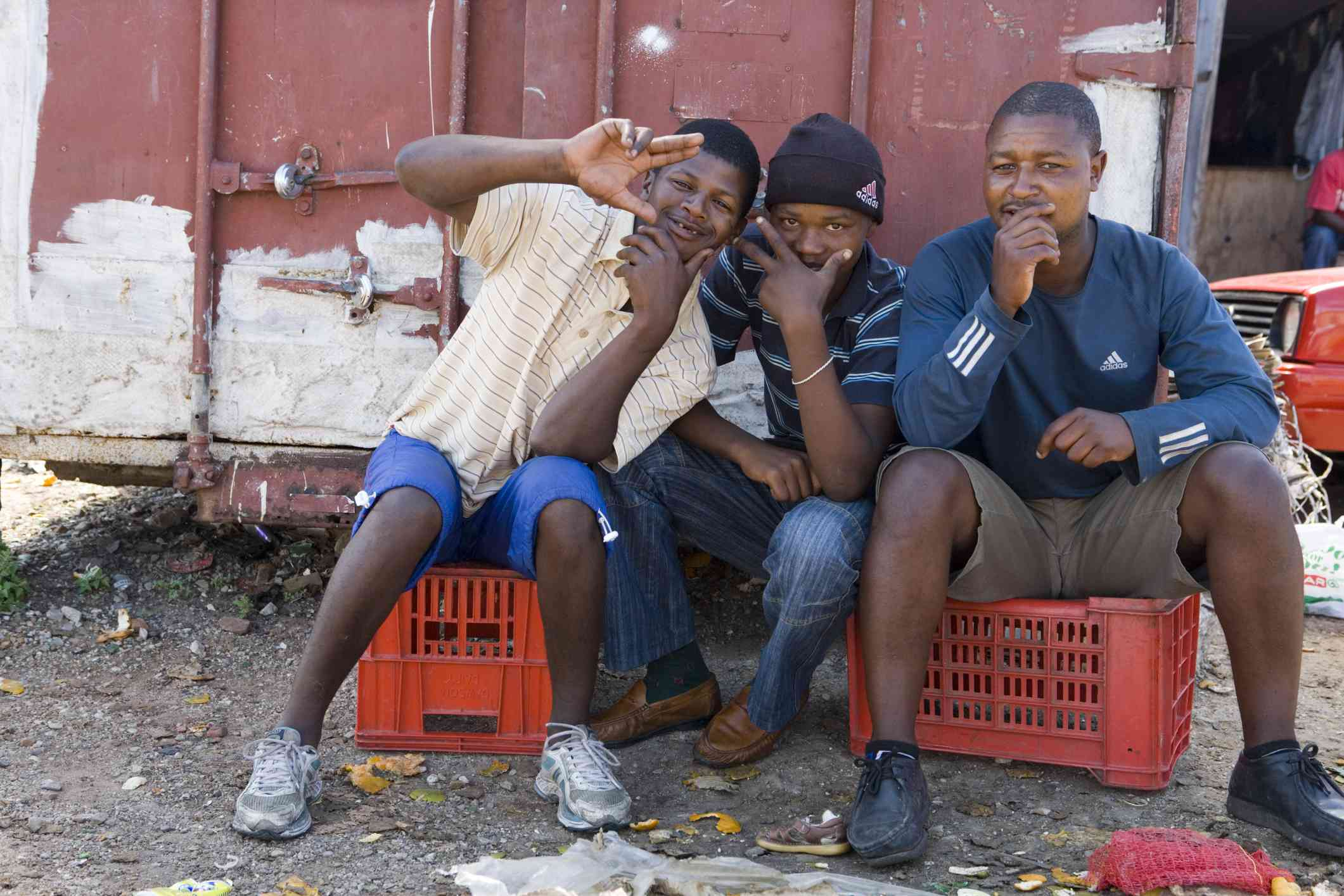 Men in a township, Port Elizabeth