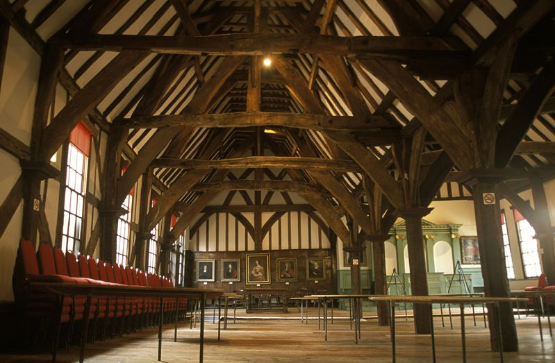 The Great Hall of the Merchant Adventurers Guildhall in York