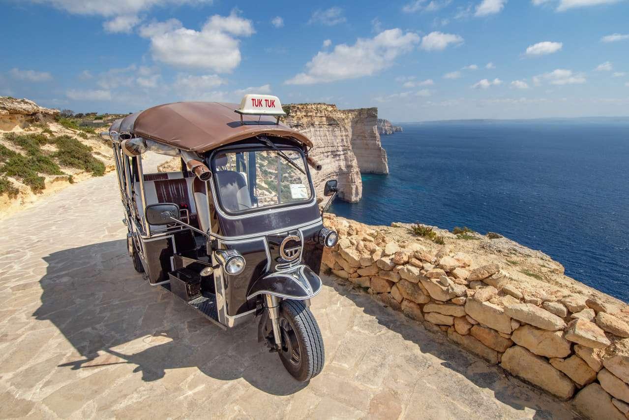 A tuk tuk on Gozo