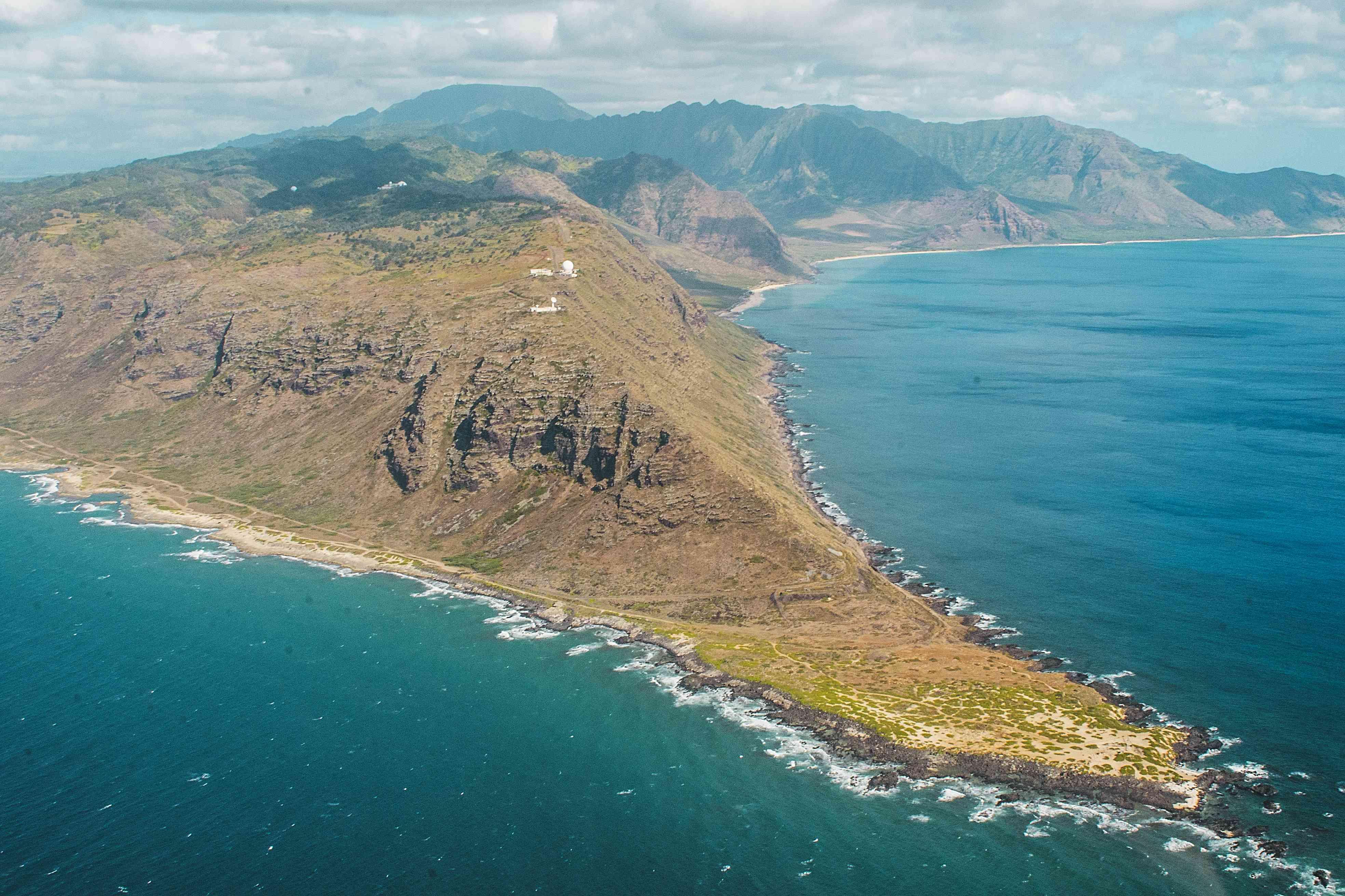 Aerial View of Leeward Coast