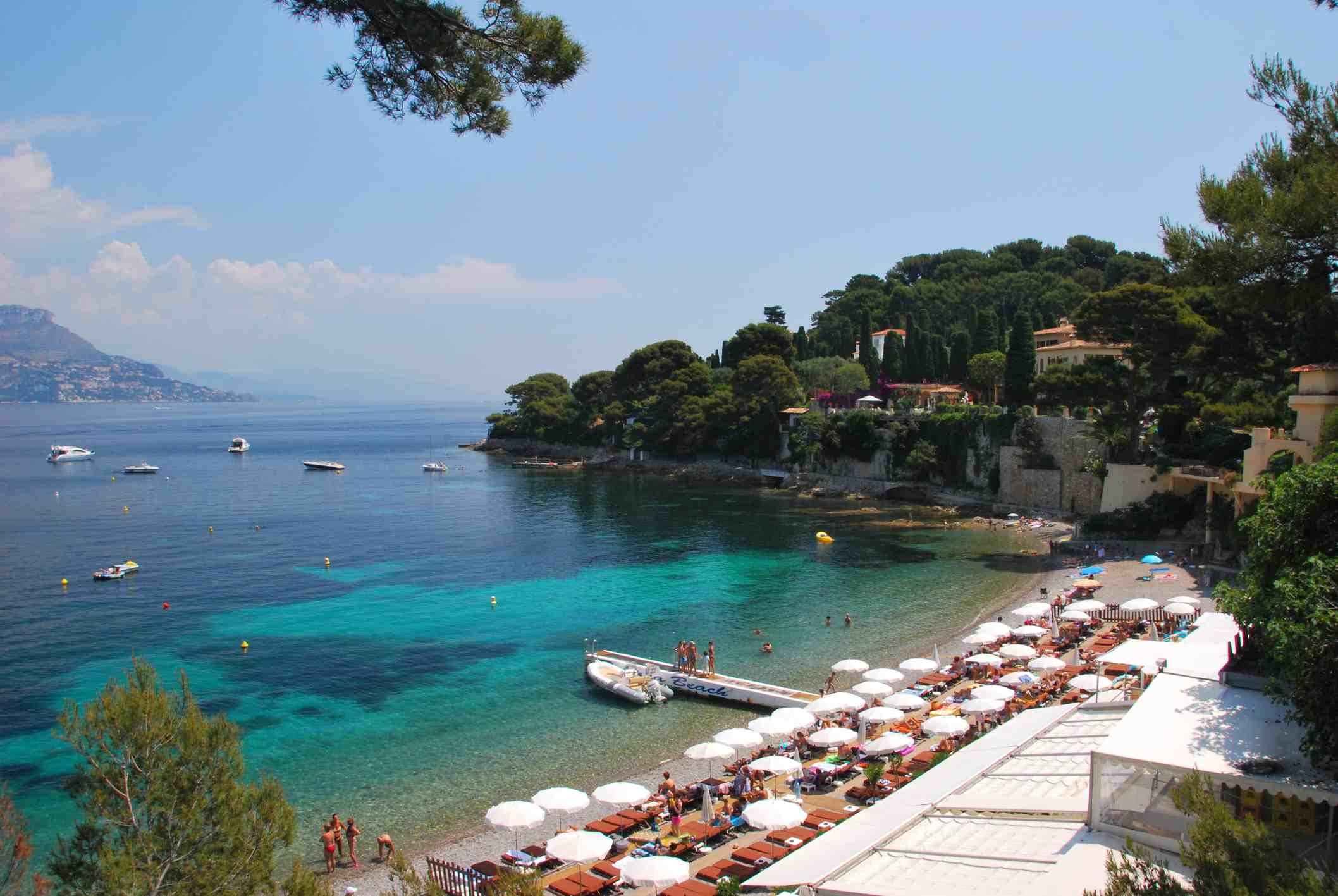 Paloma beach and beach club in the south of france