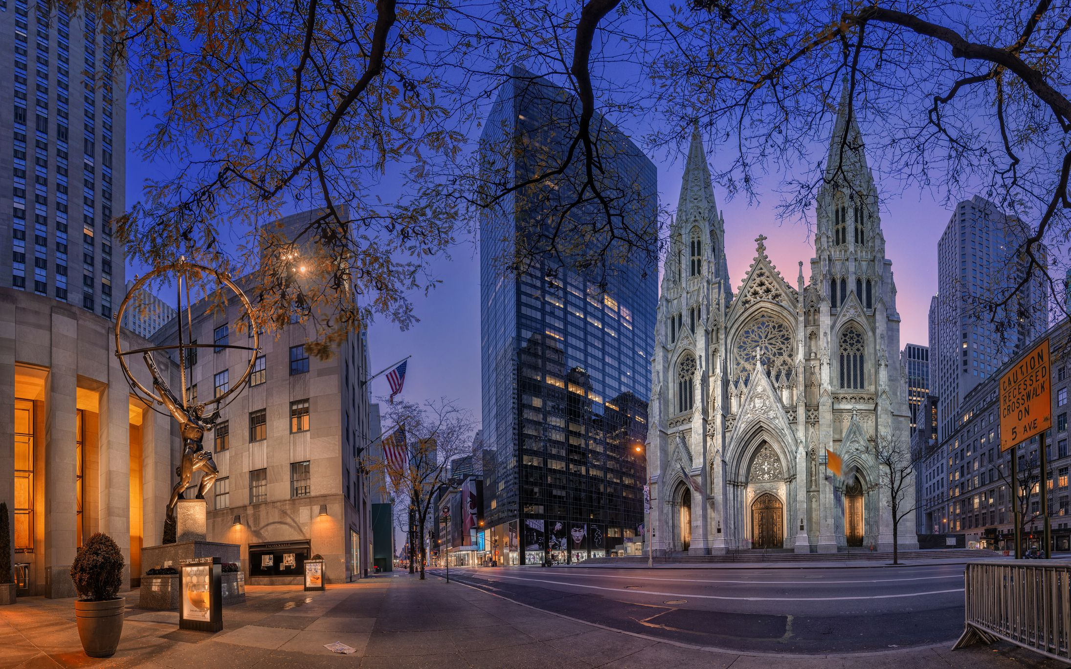Atlas, St Patrick's Cathedral, New York City