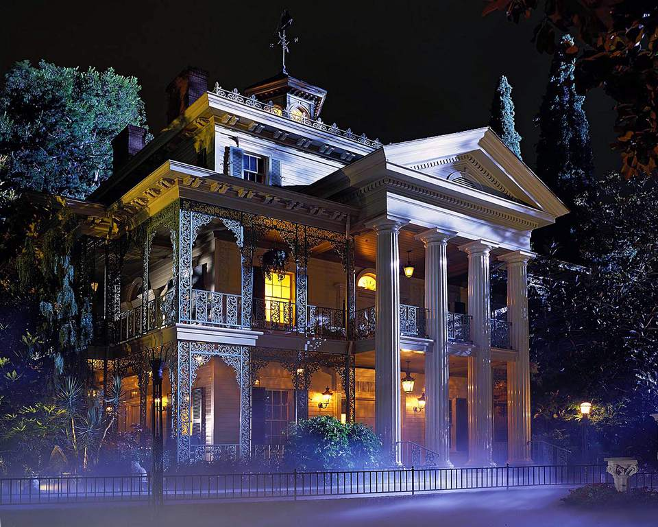 Haunted Mansion at Night