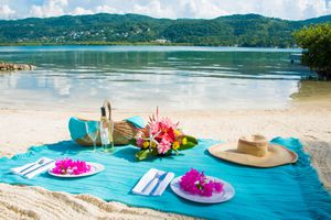 Calypso shores on the beach