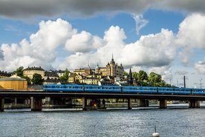 Train Leaving Stockholm