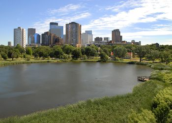 Loring Park with Downtown Minneapolis Skyline