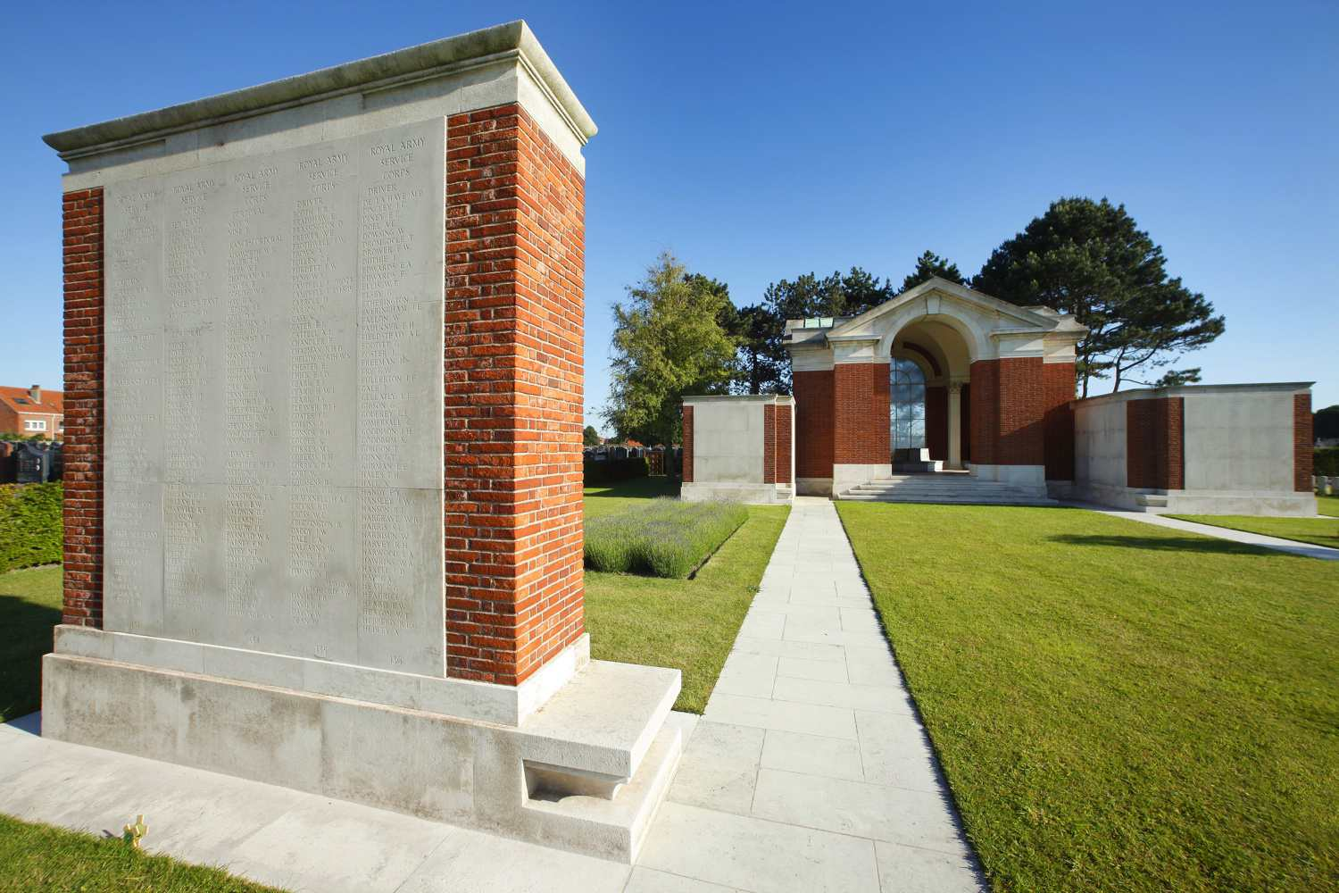 Commemorative Pillar and Memorial at the Dunkirk Cemetery Military Section