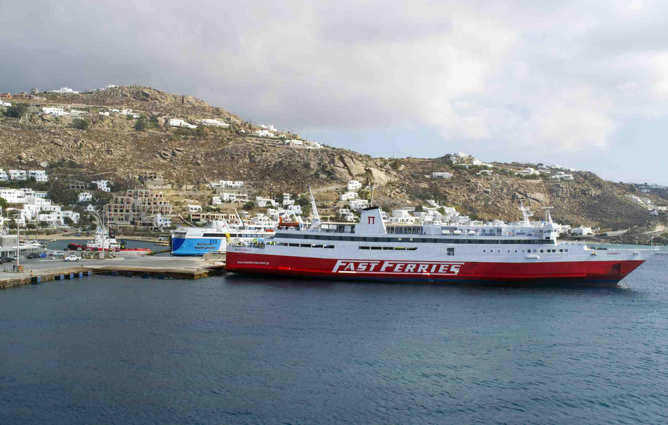 A Fast Ferries ship at port