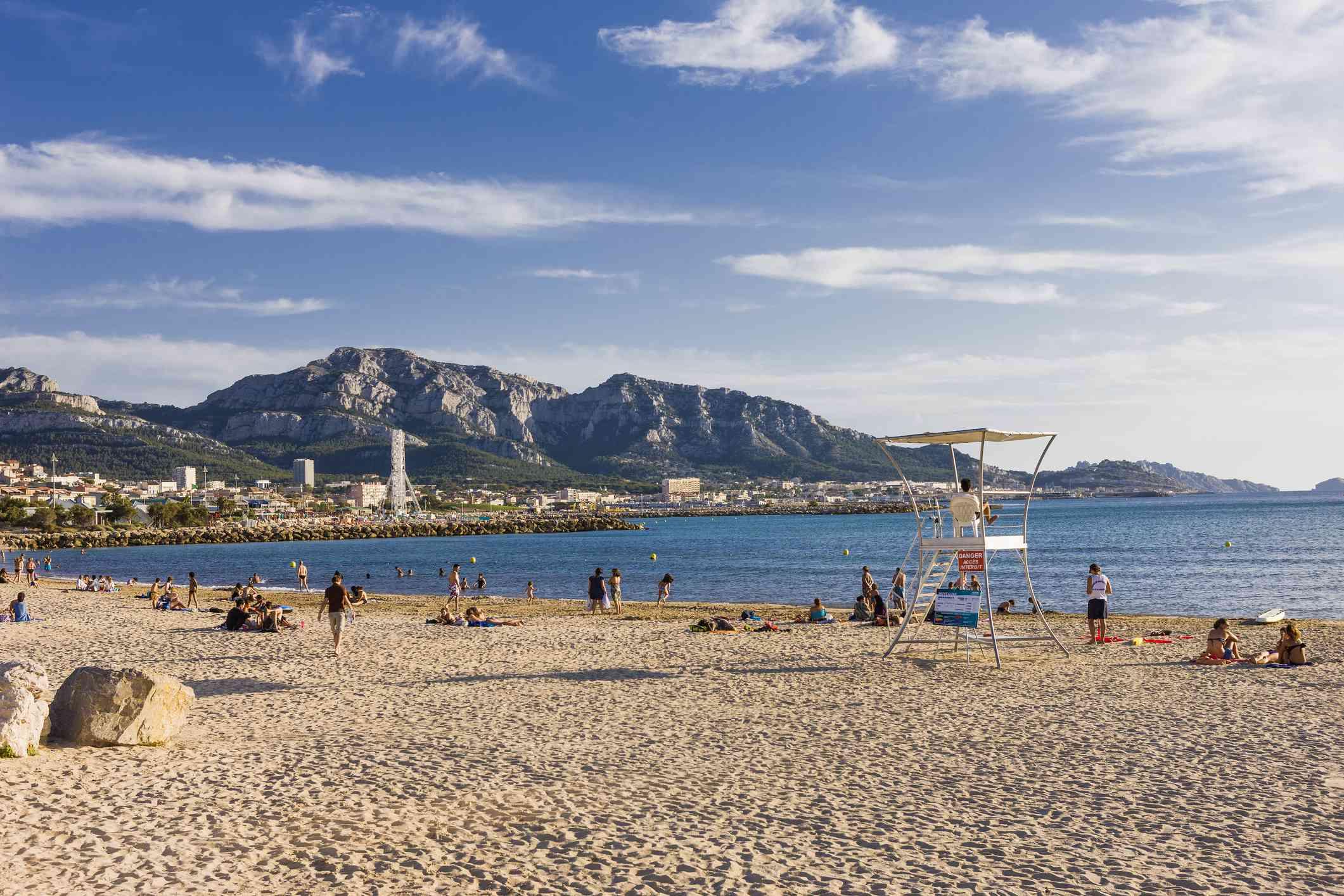 Prado Beach, Marseille, France