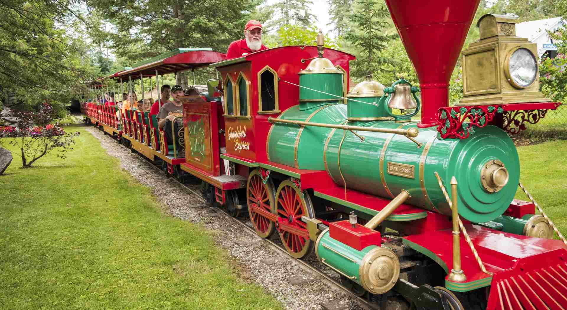 The train ride at Santa's Village in New Hampshire