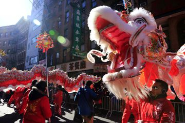 Dragon at the annual Chinese New Year parade