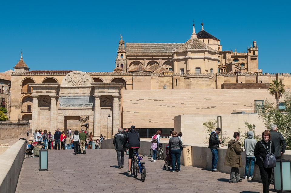 Vew from the Roman bridge. Cathedral–Mosque of Córdoba. (2012, April 2).