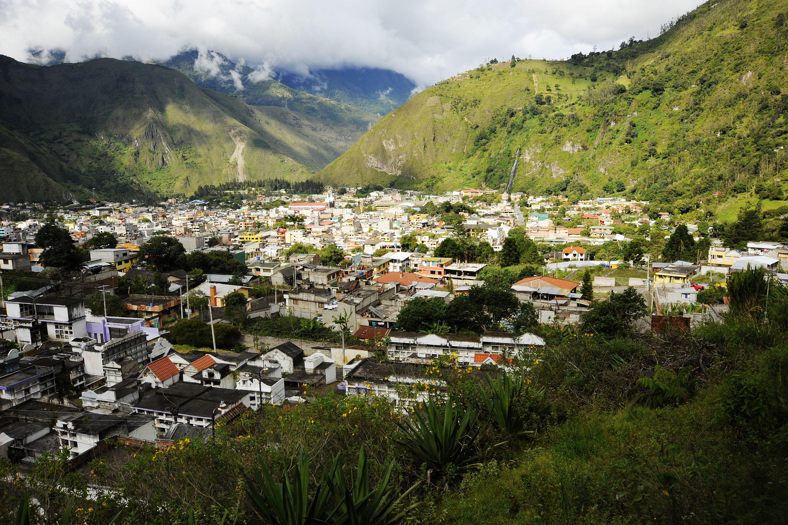 Estribaciones alrededor de Baños, Ecuador