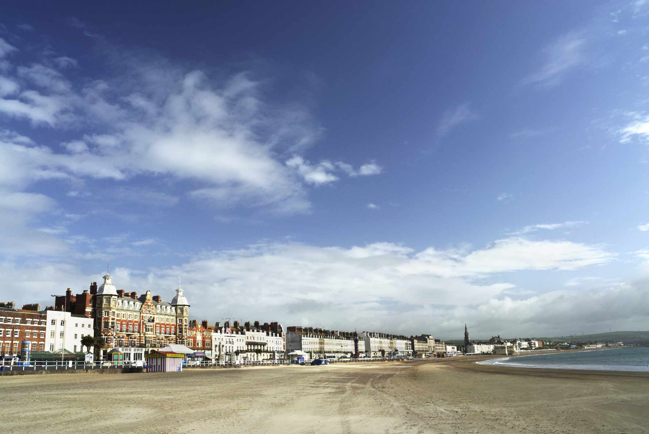 Weymouth Beach in Dorset, England