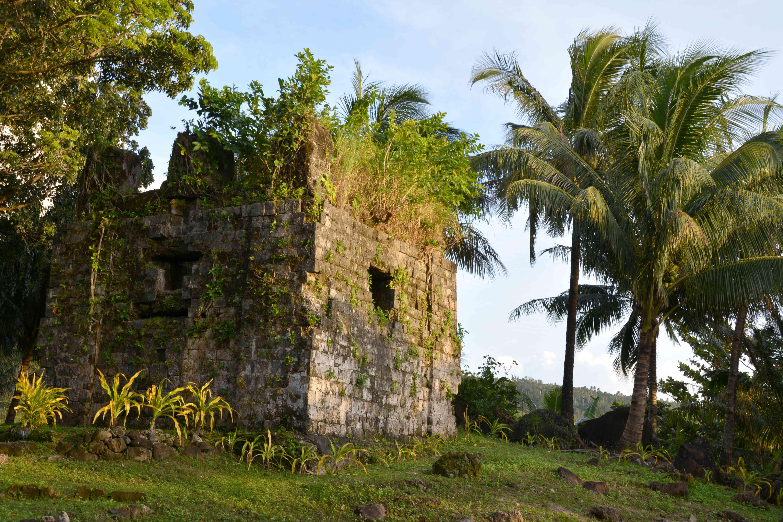 Catarman's old convent ruins, Camiguin Philippines